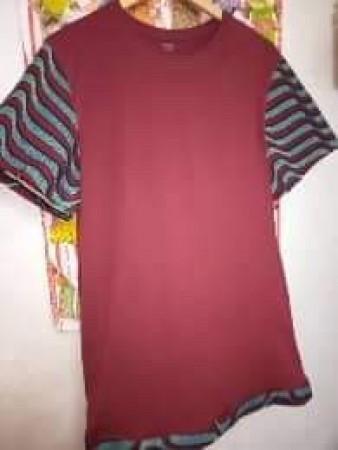 Vente de véritable tee-shirts mélanger avec du pagne  fait à là main et sur mesure